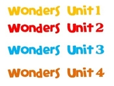 Wonders (2014) Reading Binder Spine Labels