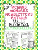 Wonders Reading Editable 3rd Grade Newsletter-BEYOND SPELLING Units 1-6 PACK