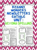Wonders Reading Editable 3rd Grade Weekly Newsletter-BEYOND SPELLING Unit 1