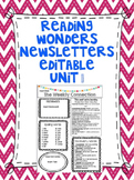 Wonders Reading Editable 3rd Grade Weekly Newsletter Unit 1