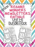 Wonders Reading Editable 3rd Grade Weekly Newsletter Units 1-6 BUNDLE PACK
