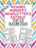 Wonders Reading Editable 3rd Grade Weekly Newsletter Units