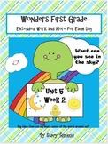 Wonders Reading First Grade: Unit 5 Week 2 Days 1-5: Exten