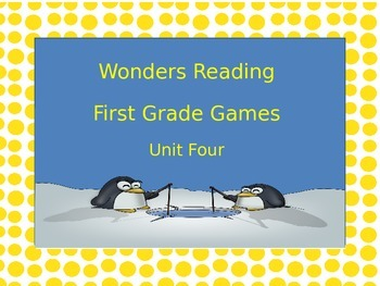 McGraw-Hill Wonders Reading First Grade Unit Four Board Games