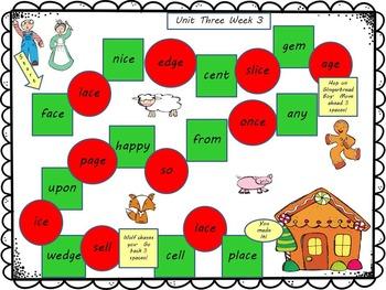 McGraw-Hill Wonders Reading First Grade Unit Three Board Games