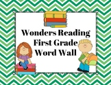 Wonders Reading First Grade Word Wall