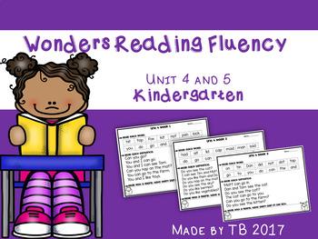 Wonders Reading Fluency Kindergarten Units 4 and 5