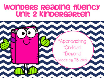 Wonders Reading Fluency Unit 2 Kindergarten