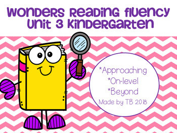Wonders Reading Fluency Unit 3