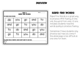 Wonders Reading Fluency Unit 4 Kindergarten