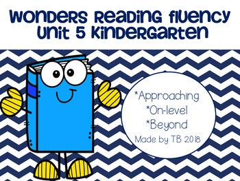 Wonders Reading Fluency Unit 5 Kindergarten