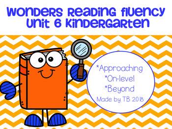 Wonders Reading Fluency Unit 6 Kindergarten