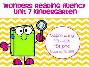 Wonders Reading Fluency Unit 7 Kindergarten