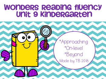 Wonders Reading Fluency Unit 9 Kindergarten