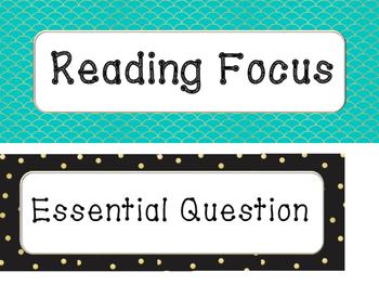 Wonders Reading Focus Wall Headings