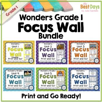 Wonders Reading Grade 1:  Focus Wall Bundle