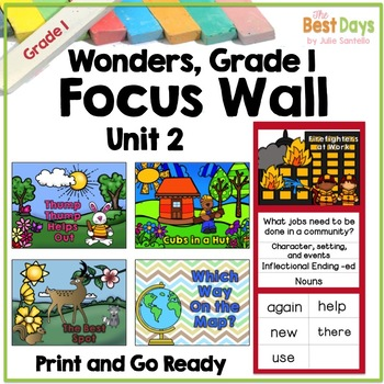 Wonders Reading Grade 1:  Focus Wall, Unit 2