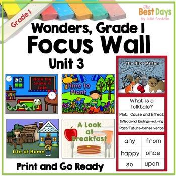 Wonders Reading Grade 1:  Focus Wall, Unit 3