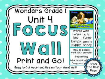 Wonders Reading Grade 1:  Focus Wall, Unit 4