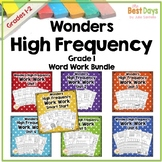 Wonders Reading First Grade:  1st Grade Word Work Bundle f