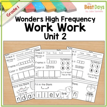 Wonders Reading Grade 1:  Word Work Unit 2