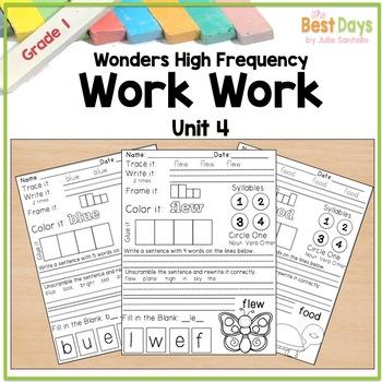 Wonders Reading Grade 1:  Word Work Unit 4