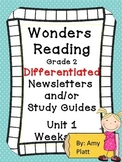 Wonders Reading Grade 2 Unit 1  Differentiated Newsletters