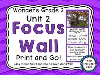 Wonders Reading Grade 2:  Focus Wall, Unit 2