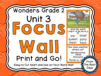 Wonders Reading Grade 2:  Focus Wall, Unit 3