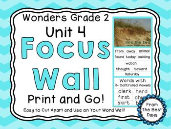 Wonders Reading Grade 2:  Focus Wall, Unit 4