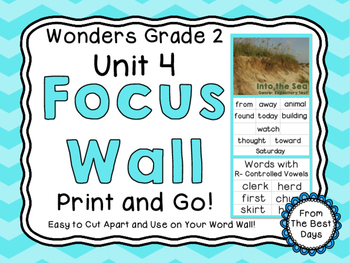 Wonders Reading Grade 2:  Focus Wall, Unit 4
