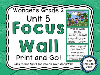 Wonders Reading Grade 2:  Focus Wall, Unit 5