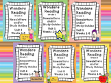 Wonders Reading Grade 2 Units 1-6 Newsletters / Study Guides