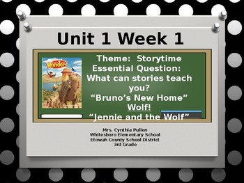 Wonders Reading Grade 3 Unit 1 Week 1