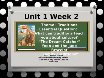 Wonders Reading Grade 3 Unit 1 Week 2