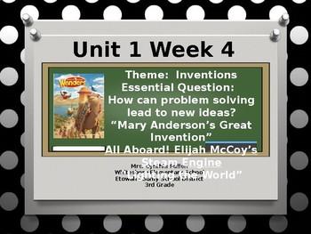 Wonders Reading Grade 3 Unit 1 Week 4