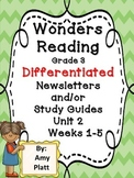 Wonders Reading Grade 3 Unit 2 Differentiated Newsletter /