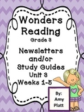 Wonders Reading Grade 3 Unit 3 Newsletter / Study Guides