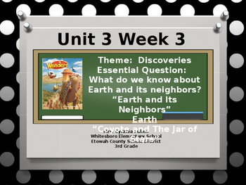 Wonders Reading Grade 3 Unit 3 Week 3