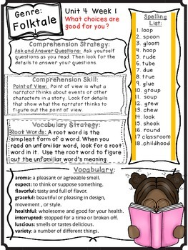 Wonders Reading Grade 3 Unit 4 Differentiated Newsletter / Study Guide