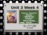 Wonders Reading Grade 4 Unit 3 Week 4