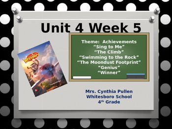 Wonders Reading Grade 4 Unit 4 Week 5
