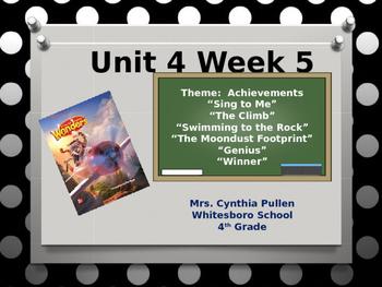 Wonders Reading Grade 4 Unit 4 Week 5