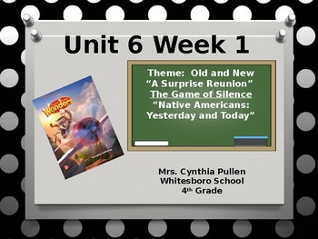 Wonders Reading Grade 4 Unit 6 Week 1