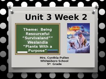 Wonders Reading Grade 5 Unit 3 Week 2