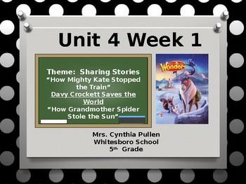 Wonders Reading Grade 5 Unit 4 Week 1