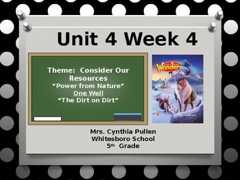 Wonders Reading Grade 5 Unit 4 Week 4