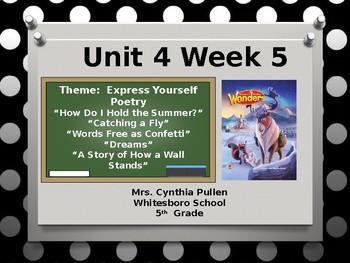 Wonders Reading Grade 5 Unit 4 Week 5