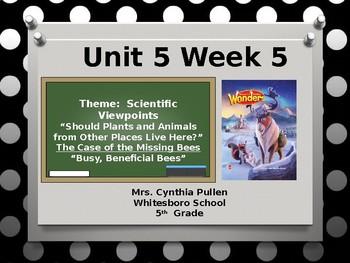Wonders Reading Grade 5 Unit 5 Week 5