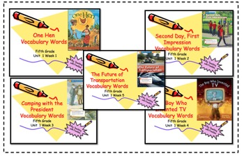 Wonders Reading Grade 5 Vocabulary PowerPoints Unit One